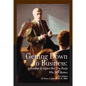 [USED BOOKS] Getting Down to Business: A Handbook for Adjunct/Part-Time Faculty Who Teach Business